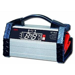 aeg 97100 chargeur de batterie contr l par microprocesseur lp 10 0 pour batteries 6 12 et 24 v. Black Bedroom Furniture Sets. Home Design Ideas