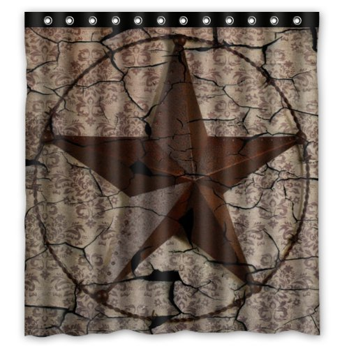 best-home-choice-western-texas-star-polyester-bathroom-waterproof-shower-curtain-66wx72h-inch