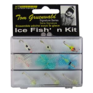 Ht enterprises pan fish 9 piece ice kit for Ice fishing jig kits