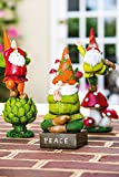 New Creative Zen Gnome Key Hider Garden Statue