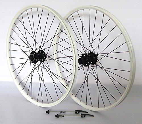 26 Zoll Fahrrad Laufradsatz Pro Disc Hohlkammerfelge weiß Shimano Deore XT756 schwarz Niro schwarz