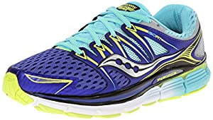 Saucony Women's Triumph ISO Running Shoe, Twilight/Oxygen/Citron, 8 M US