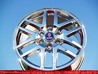Saab 9-7X: Set of 4 genuine factory 18inch chrome wheels
