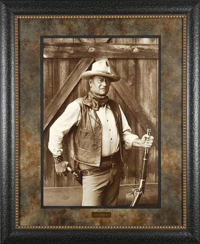 John Wayne Cowboys Bob Willoughby 29x35 Gallery Quality Framed Print Western Picture PRIME Ship