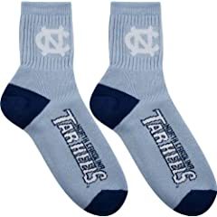 North Carolina Tar Heels Team Color Quarter Socks by For Bare Feet