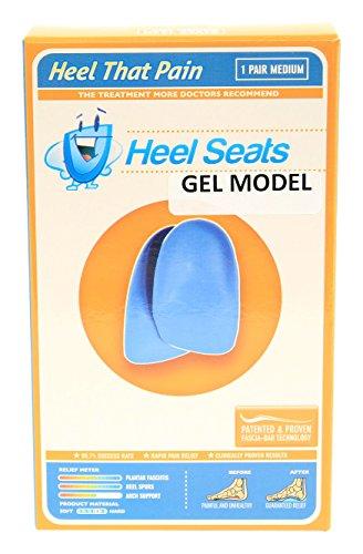 Gel Heel Seat Cup Inserts - Heel That Pain - (Men 5-8; Women 7-10) Medium (Htp Heel Cups compare prices)
