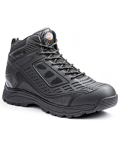 Dickies Men's Wraith Safety Hiker, Black, 12 M US