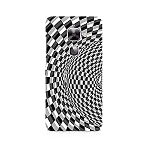 Motivatebox- Illusion Checks Premium Printed Case For LeEco Le 2 -Matte Polycarbonate 3D Hard case Mobile Cell Phone Protective BACK CASE COVER. Hard Shockproof Scratch-