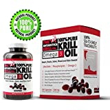 AKC Krill: 100% Pure, Clinically Proven Krill Oil - 500mg - Harvested From The Antarctic - GPS Monitored From Sea To Shelf Krill Oil - Astaxanthin Stabilized - Empty Bottle Guarantee ... (30 Day Supply)