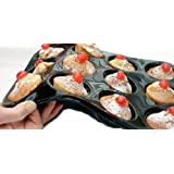 WellBake Professional 12 Cup Muffin / Yorkshire Pudding / Cupcake Tray. Superior Quality Non-Stick Silicone Bakeware + 10 Year Guarantee