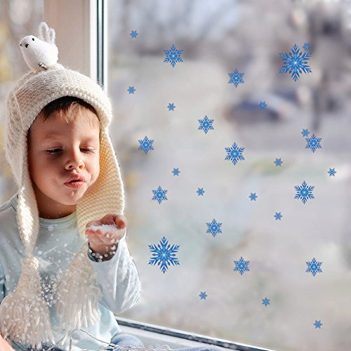 Home Product Snowflakes Snow Flakes Frozen Window Wall Sticker Girls Bedroom Holiday Decals (Girl Snow Brush compare prices)