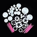 Ohuhu® Professional Cake Tools, 11 Sets (47pcs) Flower Sugarcraft Cake Decorating Fondant Mold Tools Set / Cookies Mold Tools Set / Cake Decoration Tools Set / Icing Plunger Cutter Tools