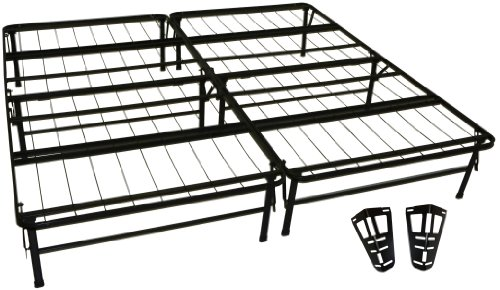 Epic Furnishings DuraBed Steel Foundation & Frame-in-One Mattress Support System Foldable Bed Frame with Headboard Attaching Brackets, King (Durabed Brackets compare prices)