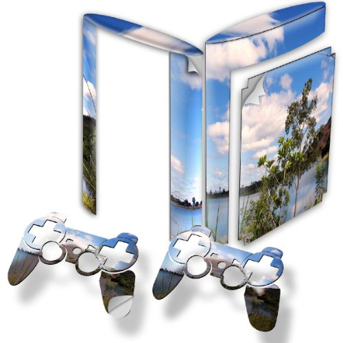 """""""Landscapes"""" 10037, Snuggle Edition, Sticker For Playstation 3 Super Slim Game Console."""