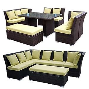 Jamaican 7 piece outdoor patio sectional for Sofa exterior amazon