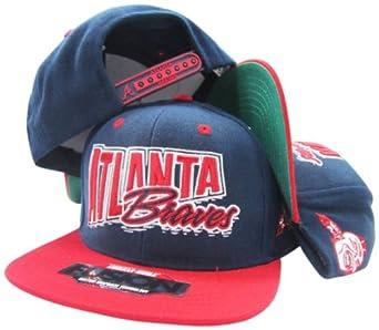 Atlanta Braves Navy Red Fusion Angler Snapback Hat Cap by American Needle