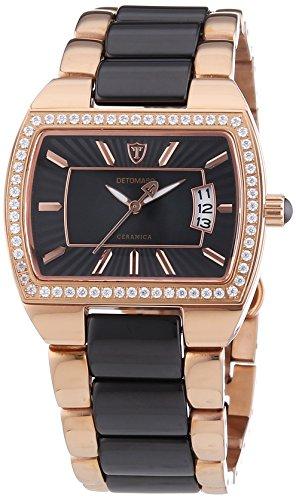 Detomaso CONCETTA Rosegold DT3009-C Ladies DT3009-C - Reloj analógico de cuarzo para mujer, correa de cerámica color plateado