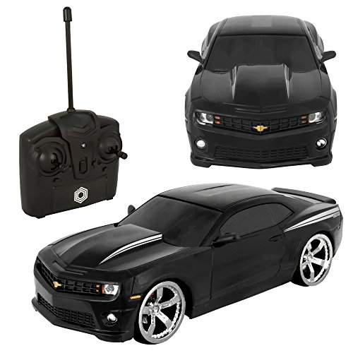 Braha Chevrolet Camaro 1:24 R/C Car Black (Kids Camaro Car compare prices)