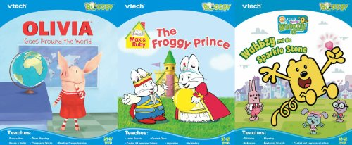 Vtech Bugsby Reading System 3 Book Bundle: Max & Ruby, Olivia, Wow Wow Wubbzy - 1