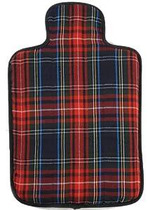 Hotties - Bolsa de agua caliente apta para microondas, diseño escocés de cuadros, color azul marca Hotties
