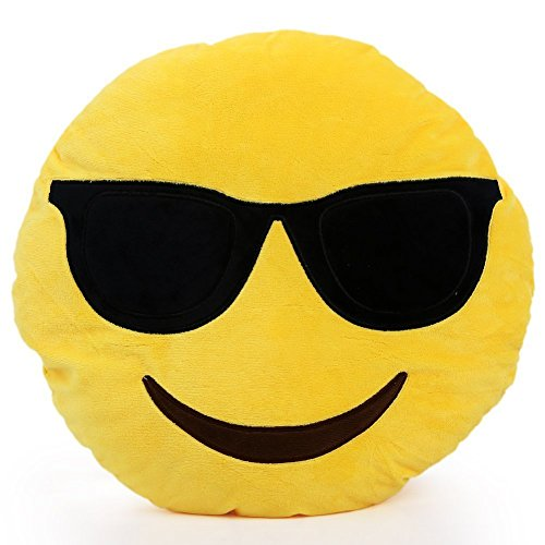 1 X Round Oi Emoji Smiley Emoticon Cushion Pillow Stuffed Plush Toy Doll Yellow(very Cool+free Valentine's Day Gifts)