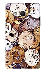 Blue Throat Old Watch Machine Inspired Hard Plastic Printed Back Cover/Case For Samsung Z3