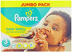 Pampers New Baby Size 3 Nappies - 2014 Pack 74