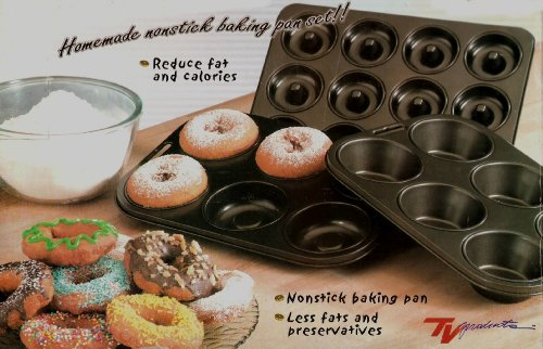 Donut Wizard - Homemade Nonstick Baking Pan Set Plus Bonus Decorating Kit