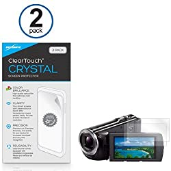Sony HDR-PJ380 Screen Protector BoxWave [ClearTouch Crystal (2-Pack)] HD Film Skin - Shields From Scratches for Sony HDR-PJ380 HDR-PJ670 HDR-PJ540