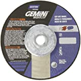 """Norton Gemini Right Cut Right Angle Grinder Reinforced Abrasive Flat Cut-off Wheel, Type 27, Aluminum Oxide, 5/8""""-11 Hub, 4-1/2"""" Diameter x 0.045"""" Thickness  (Pack of 10)"""