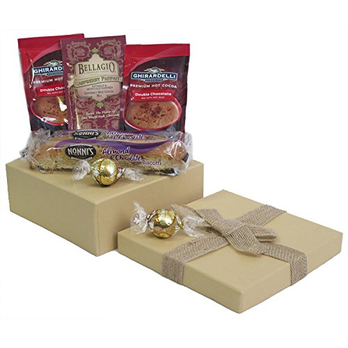 Holiday Gourmet Hot Cocoa Biscotti and Chocolate Gift Set for Christmas