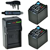 ChiliPower Canon BP-819 Kit: 2x Battery (1800mAh) + Charger (UK Plug) for Canon VIXIA HF G10, HF G20, HF M30, HF M31, HF M32, HF M40, HF M41, HF M300, HF M400, HF S10, HF S11, HF S20, HF S21, HF S30, HF S100, HF S200, HF10, HF11, HF100, HF20, HF21, HF200