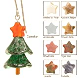 Sparkling Spruce Christmas Tree Earrings - Sterling Silver - Autumn Jasper