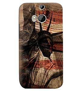 Fuson Premium Statue Of Liberty Printed Hard Plastic Back Case Cover for HTC One M8