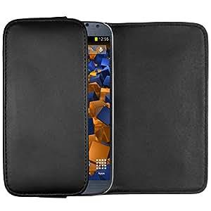 mumbi Quer Tasche Samsung Galaxy S4 Hülle (horizontal mit Gürtelschlaufe + Lasche und Magnetverschluss)