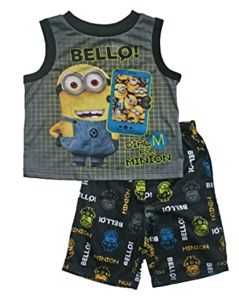 "Despicable Me Minion ""Bello"" Boys Pajama Set (6/7)"