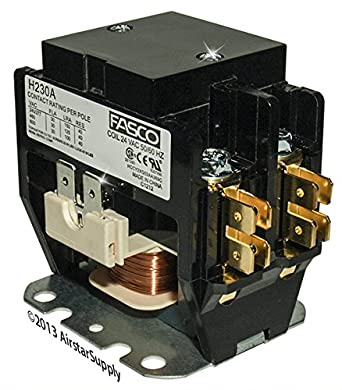 OEM Replacement for Trane Double Pole / 2 Pole 30 Amp 24v Condenser Contactor Relay C147094P03