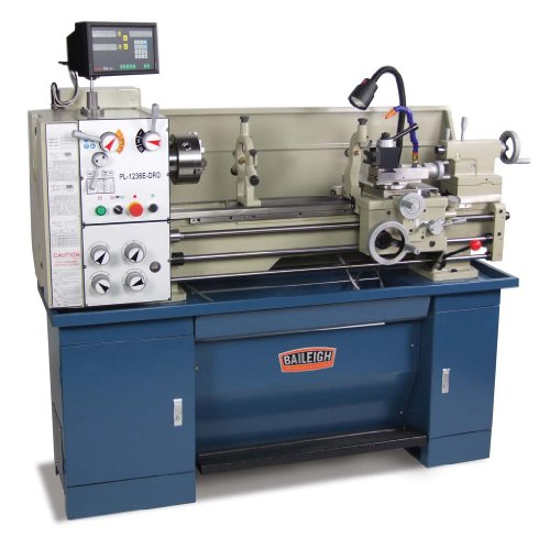 Baileigh PL-1236E-DRO Dual Voltage Metal Lathe with DRO, 1-Phase 110/220V, 12 Swing, 36 Bed Length