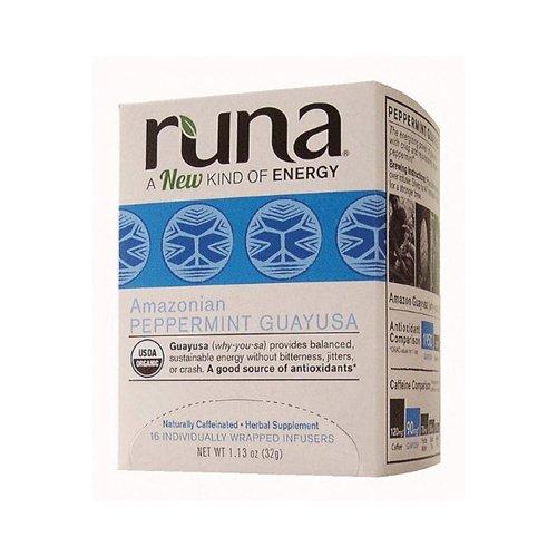 Runa Tea Organic Mint Guayusa Tea - Case Of 6 - 16 Bags