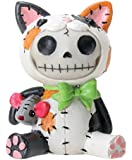 Furrybones Sitting Calico Mao-Mao Skull Face in Cat Suit with Mouse
