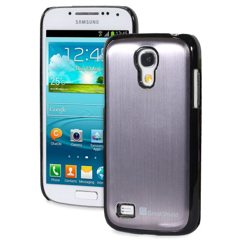 Greatshield Terra Series Brushed Metal Hybrid Bumper Case For Samsung Galaxy S4 Mini I9190 / I9195 (Gunmetal)