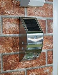 CHXDD Solar White Wall Light With PIR Motion Sensor(CIS-57228) with