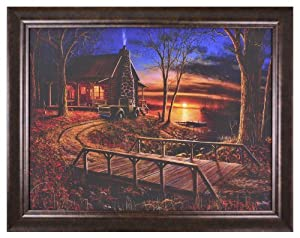 Prime Source Jim Hansel Editions Simpler Time Framed Authentic Canvas Art Print, 30 by 38-Inch