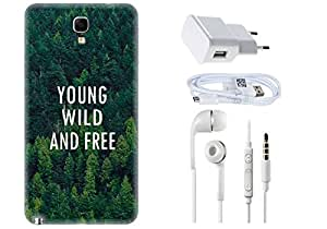 Spygen SAMSUNG GALAXY Note 3 Neo N7505 Case Combo of Premium Quality Designer Printed 3D Lightweight Slim Matte Finish Hard Case Back Cover + Charger Adapter + High Speed Data Cable + Premium Quality Handfree