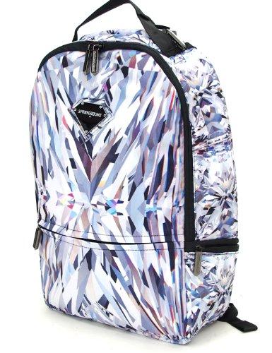 (スプレーグラウンド)SPRAYGROUND バックパック 男女兼用 ダイアモンド 人気 ブランド B系ファッション ストリート系(ONE SIZE,ホワイト)