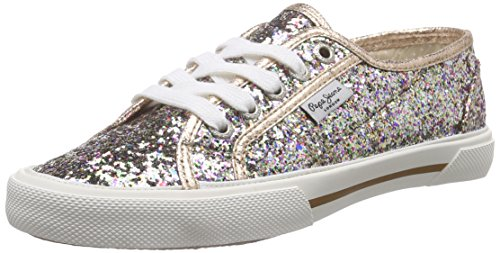 Pepe Jeans ABERLADY GLITTER PARTY Sneakers Donna, Multicolore (116SHERBERT), 36