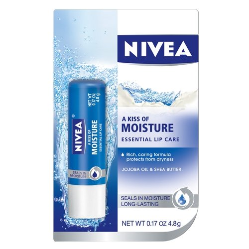 Nivea a Kiss of Moisture Essential Lip Care, 0.17-Ounce Sticks (Pack of 6)