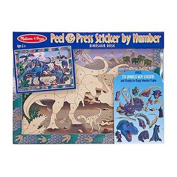 Dinosaur Dusk Peel & Press Sticker By Number -- Case of 3
