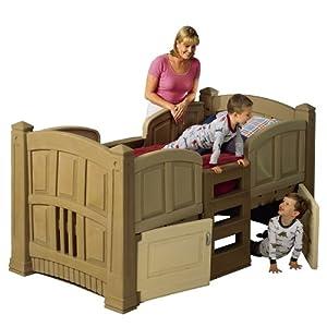 Step2 boy 39 s loft storage twin bed new ebay for Boys twin bed with storage