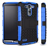 DUAL ARMOR Shell Case POUCH Back Cover For LG G3 VIGOR, LG G3 Mini, LG G3s, LG G3 Beat - (Blue)
